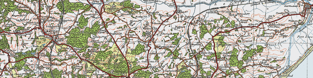 Old map of Westfield in 1921