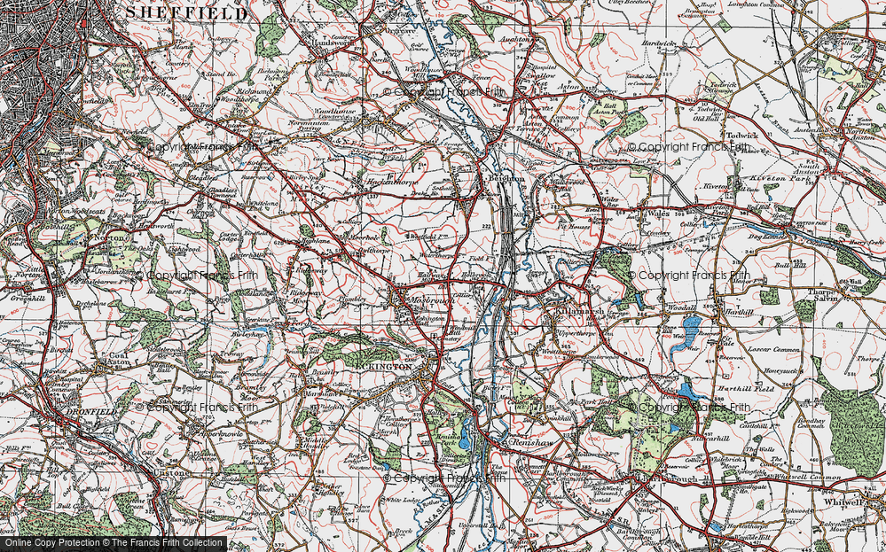 Old Map of Westfield, 1923 in 1923
