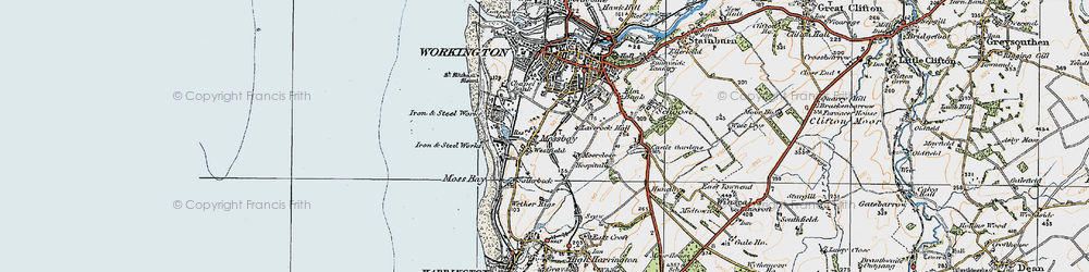 Old map of Westfield in 1925