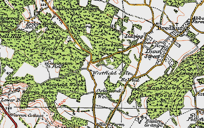 Old map of Westfield Sole in 1921