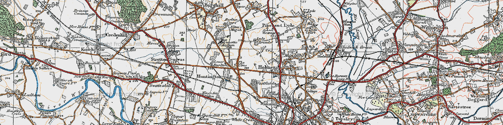 Old map of Westfields in 1920