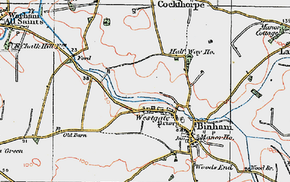 Old map of Westgate in 1921