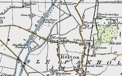 Old map of Westgate in 1923