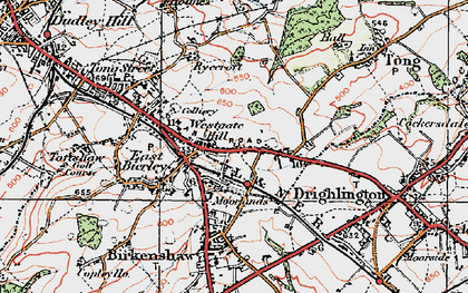 Old map of Westgate Hill in 1925