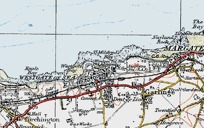 Old map of Westgate on Sea in 1920