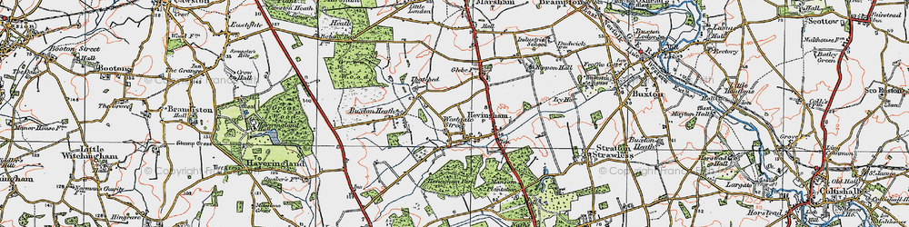 Old map of Westgate Street in 1922