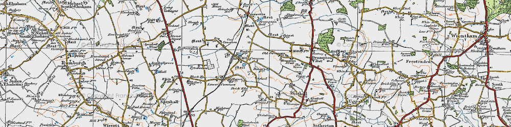 Old map of Westhall in 1921