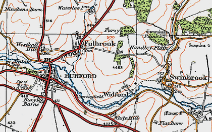 Old map of Westhall Hill in 1919