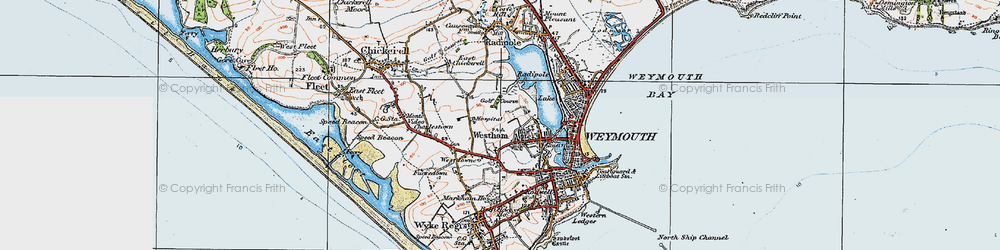 Old map of Westham in 1919