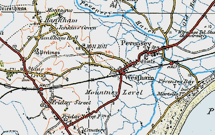 Old map of Westham in 1920