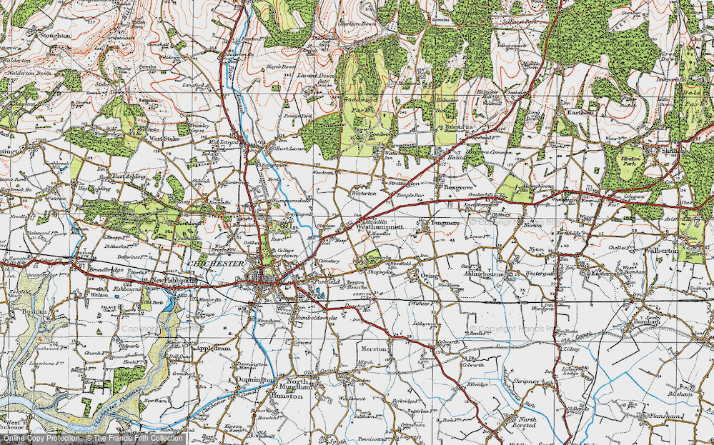 Old Map of Westhampnett, 1919 in 1919
