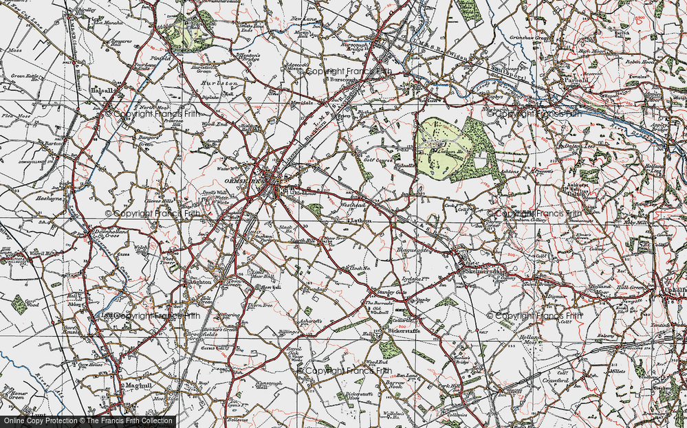 Old Map of Westhead, 1923 in 1923