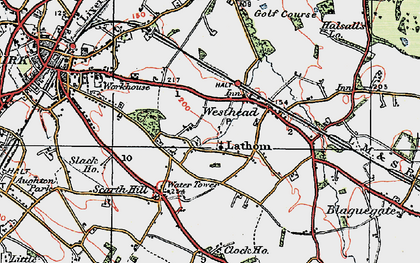 Old map of Westhead in 1923