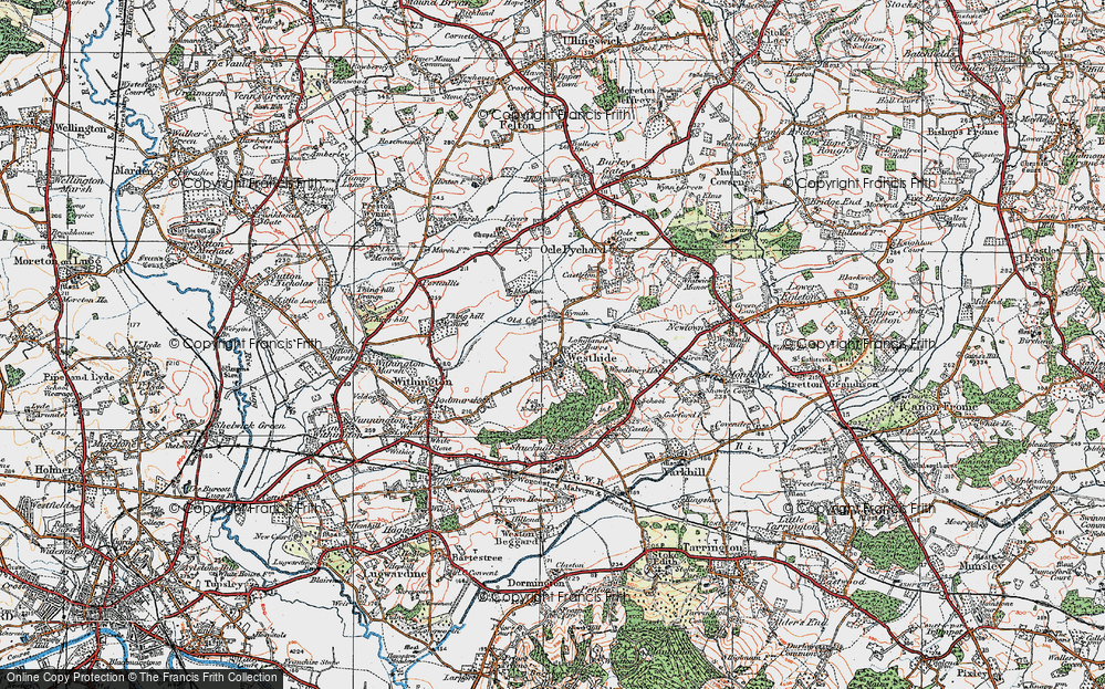 Old Map of Westhide, 1920 in 1920