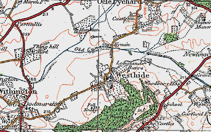 Old map of Westhide in 1920