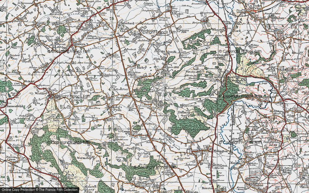Old Map of Westhope, 1920 in 1920