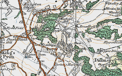 Old map of Westhope Hill in 1920