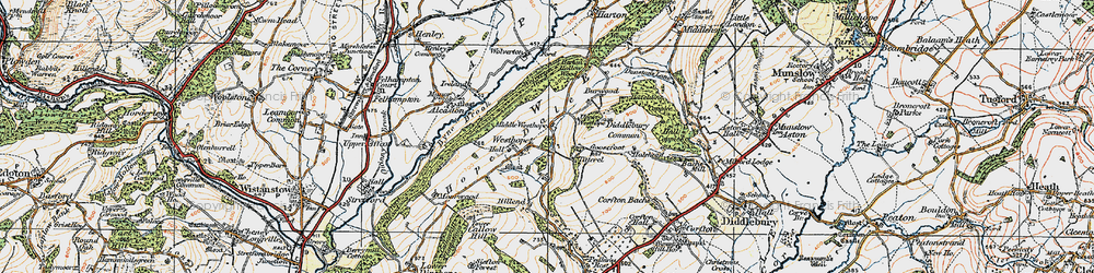 Old map of Westhope in 1920
