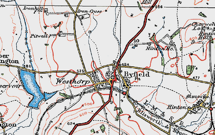 Old map of Westhorp in 1919