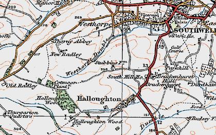 Old map of Westhorpe in 1921