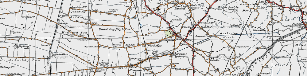 Old map of Westhorpe in 1922