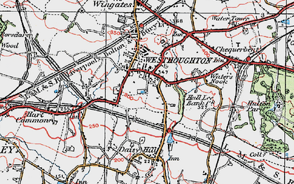 Old map of Westhoughton in 1924