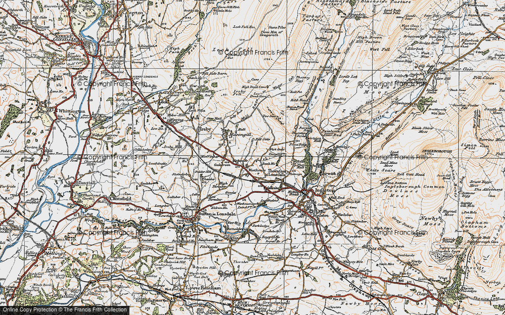 Old Map of Westhouse, 1925 in 1925