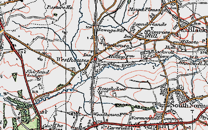 Old map of Alfreton & Mansfield Parkway Station in 1923