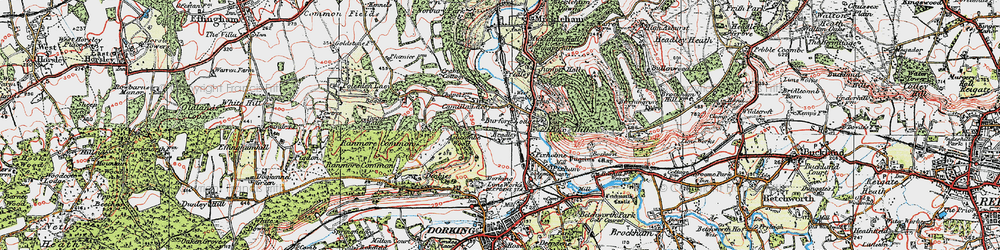 Old map of Westhumble in 1920