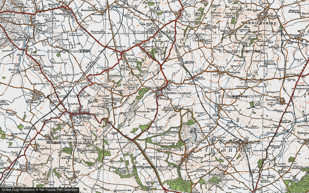 Old Map of Historic Map covering Tilbury Hollow in 1919