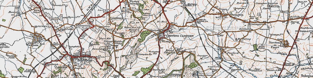 Old map of Westington in 1919