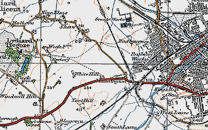 Old map of Westlea in 1919