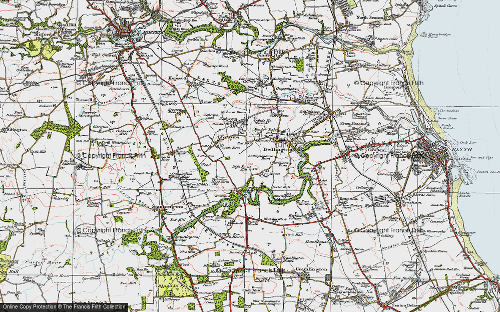 Old Map of Westlea, 1925 in 1925