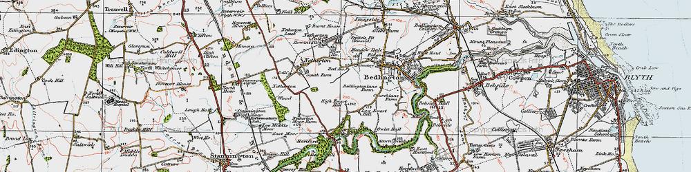 Old map of Westlea in 1925