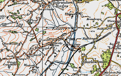 Old map of Westleigh in 1919