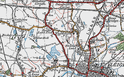 Old map of Westleigh in 1924