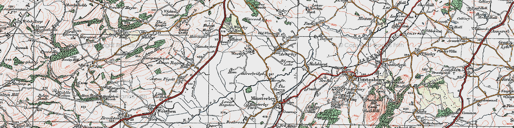 Old map of Westley in 1921