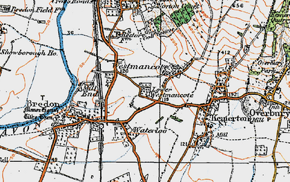 Old map of Westmancote in 1919