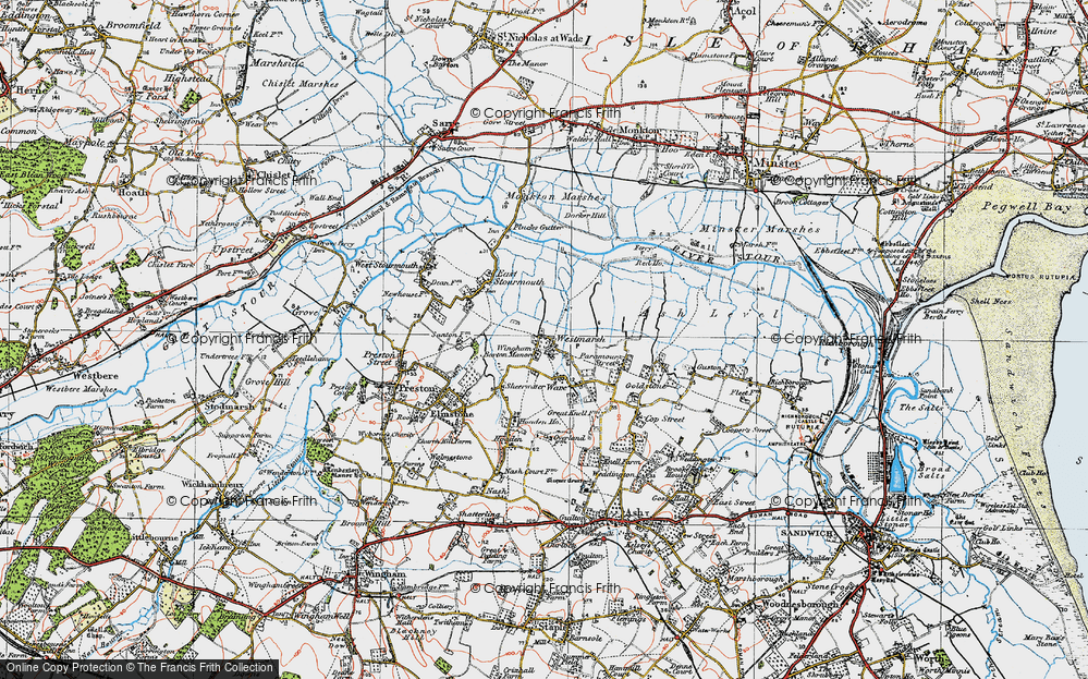Old Map of Westmarsh, 1920 in 1920