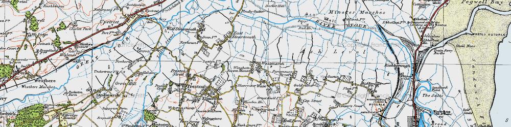 Old map of Westmarsh in 1920