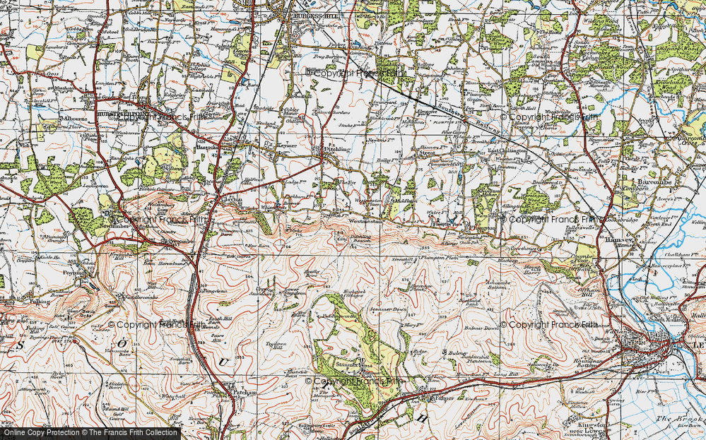Old Map of Westmeston, 1920 in 1920