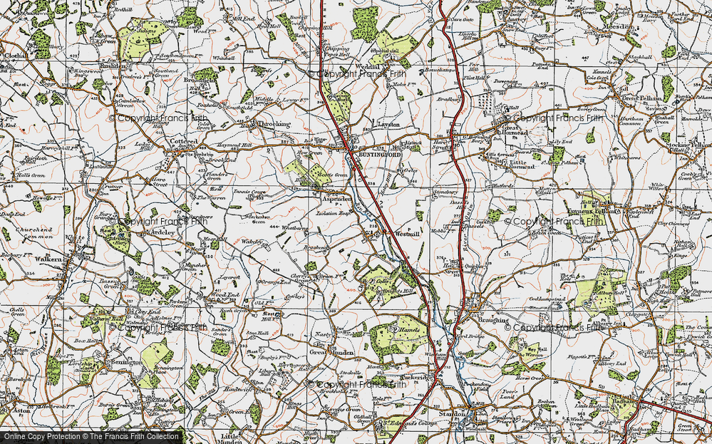 Old Map of Westmill, 1919 in 1919
