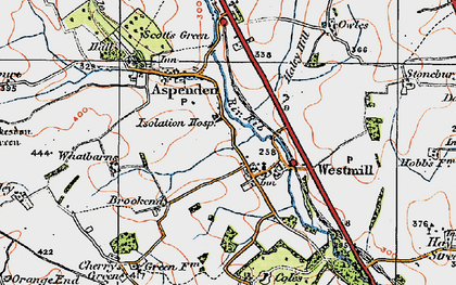 Old map of Westmill in 1919