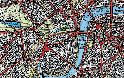Old map of Westminster in 1920