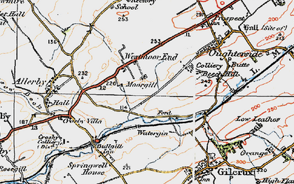 Old map of Westmoor End in 1925