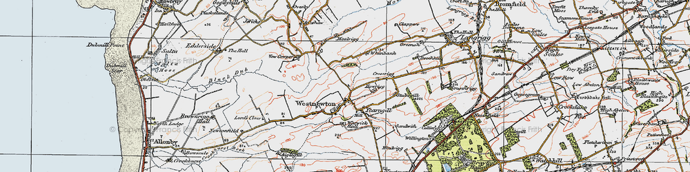 Old map of Westnewton in 1925