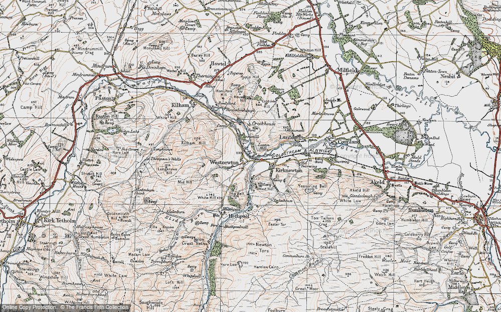 Old Map of Westnewton, 1926 in 1926