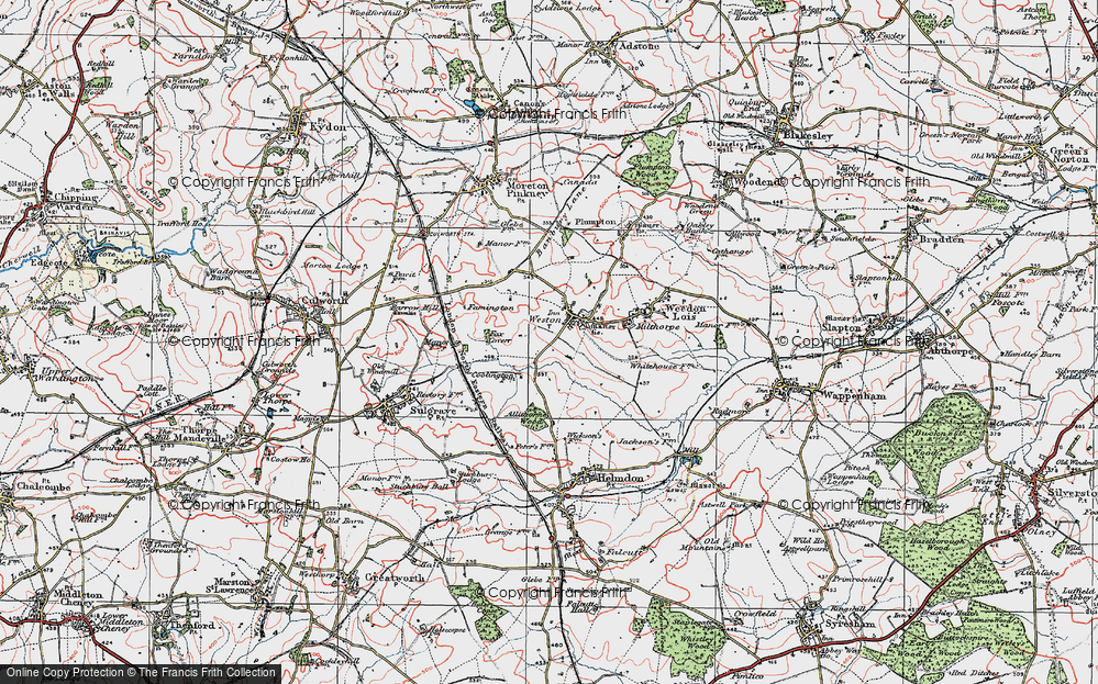 Old Map of Historic Map covering Allithorne Wood in 1919