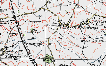 Old map of Allithorne Wood in 1919