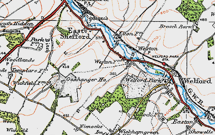Old map of Weston in 1919